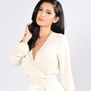 Fashion nova white lies top